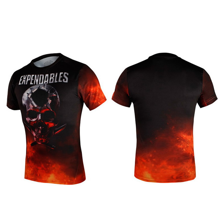 The Expendables Sublimation printing quick dry fitness sports T-shirt