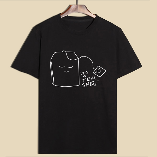 Funny Printed Cotton T-shirt Round neck silkscreen