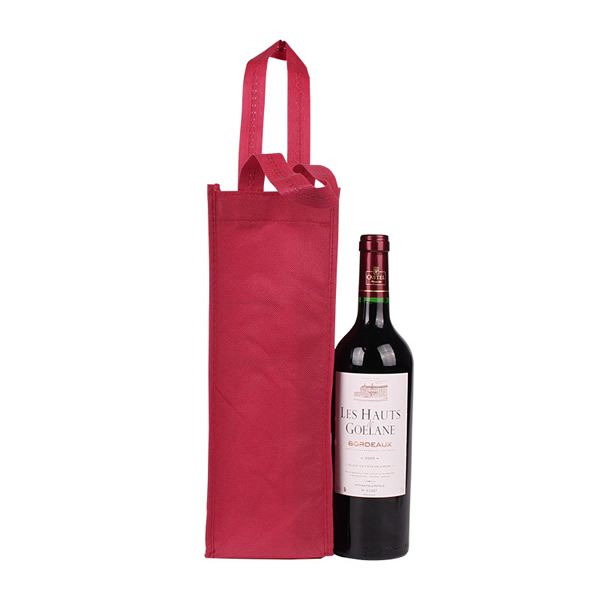 Promotional Single Bottle Wine Bags with Custom Logo
