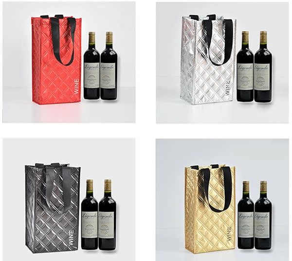 Promotional Business Logo Imprinted 2-bottle Wine Bottle Bag