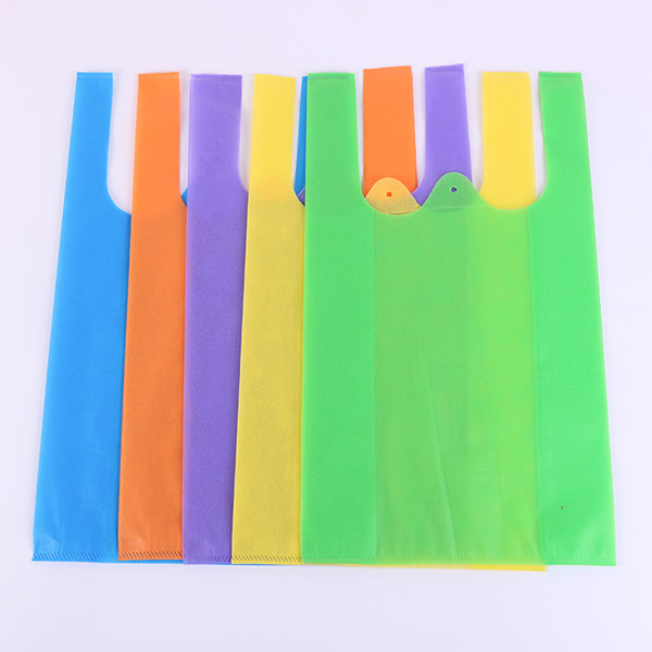 Non-woven shopping bag colorful logo printed Eco-friendly shopping bags