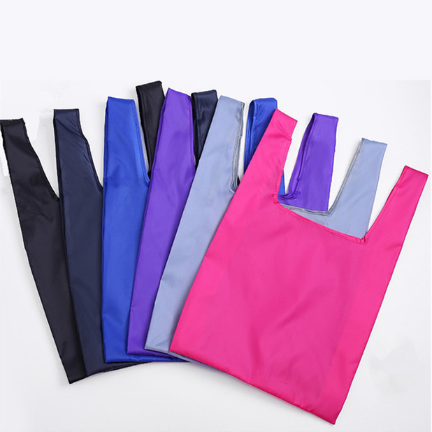 Eco friendly polyester folding bulk reusable shopping bag