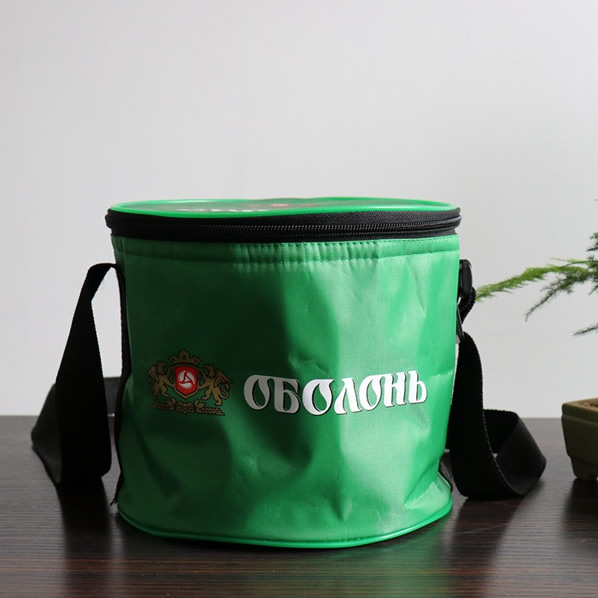 Round Soft Cooler Bag Insulated Lunch Box Bag Picnic Cooler Tote/premium gift supplier