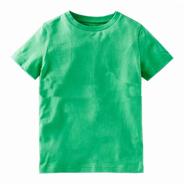 wholesale O neck kids 100% organic cotton short sleeve Blank T-shirt