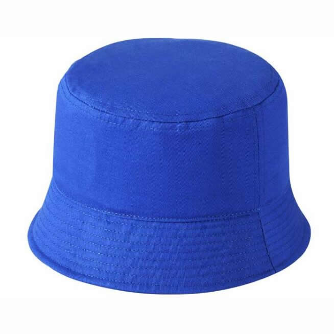Heavy brushed cotton bucket hat-Blue