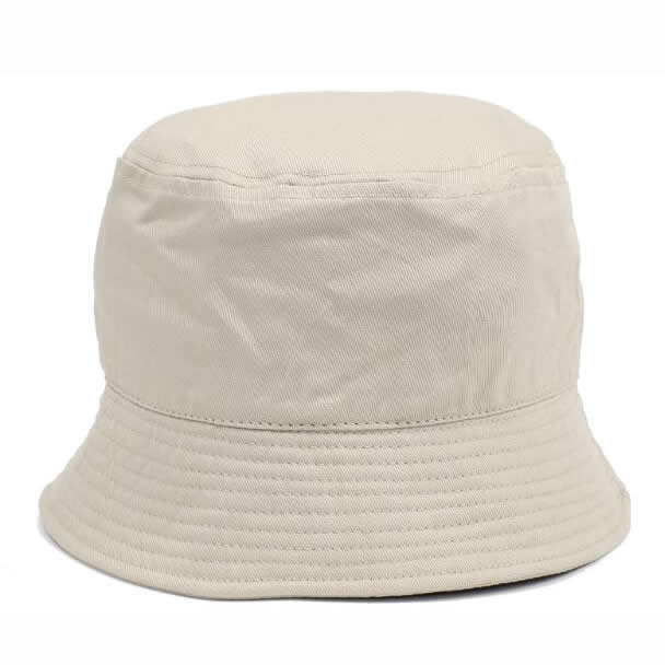 Heavy brushed cotton bucket hat- Milk white