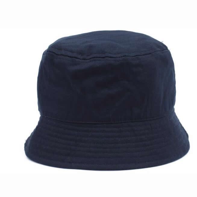 Heavy brushed cotton bucket hat- dark blue