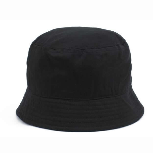 Heavy brushed cotton bucket hat- black