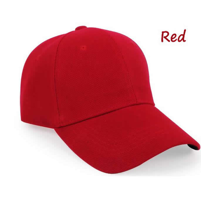 Structured 6 panel cotton cap with embroidered eyelets-red